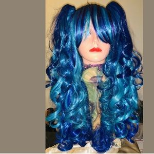 3-piece Synthetic cosplay wig